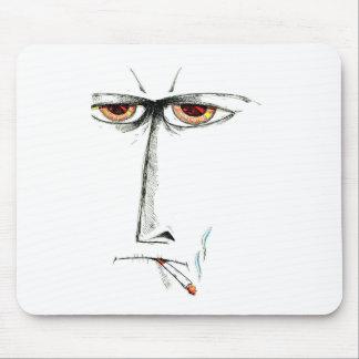 ハンドメイド顔のスケッチのスケッチの芸術 マウスパッド