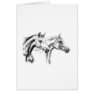 ハンドメイド馬のスケッチのスケッチの芸術 カード