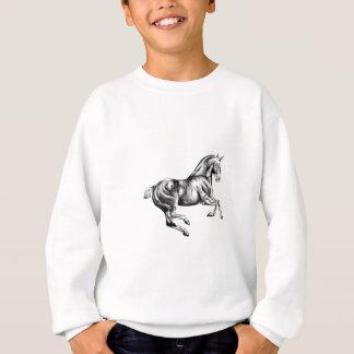 ハンドメイド馬のスケッチのスケッチの芸術 スウェットシャツ