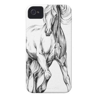 ハンドメイド馬のスケッチのスケッチの芸術 Case-Mate iPhone 4 ケース