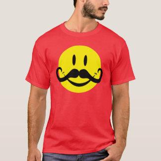 ハンドルバーの髭のスマイリー Tシャツ