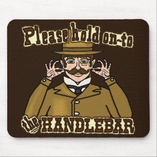 ハンドルバーの髭の紳士 マウスパッド