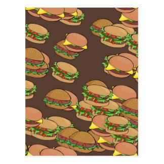 ハンバーガーおよびチーズバーガー ポストカード
