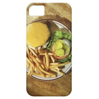 ハンバーガーおよびフライドポテト iPhone SE/5/5s ケース
