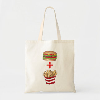 ハンバーガーおよび揚げ物のファースト・フードのトートバック トートバッグ