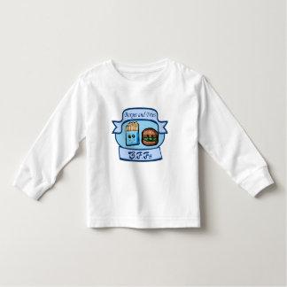 ハンバーガーおよび揚げ物のBFFsの子供の衣服 トドラーTシャツ