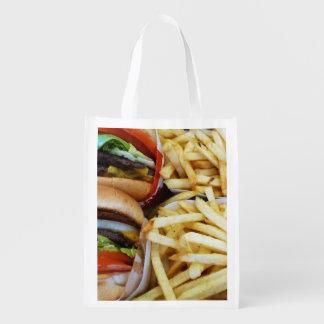 ハンバーガーおよび揚げ物 エコバッグ