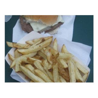 ハンバーガーおよび揚げ物 ポストカード