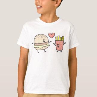 ハンバーガーおよび揚げ物 Tシャツ