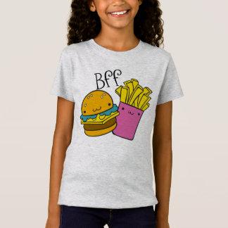 ハンバーガーおよび揚げ物BFF Tシャツ