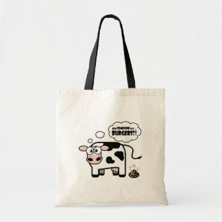 ハンバーガーか。! -おもしろいな牛バッグ トートバッグ