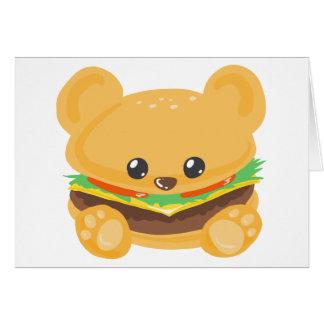 ハンバーガーくま グリーティングカード