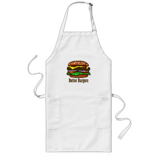 ハンバーガーのエプロン ロングエプロン