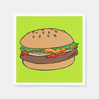 ハンバーガーのカクテルのナプキン スタンダードカクテルナプキン