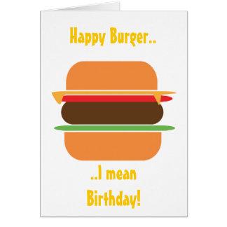 ハンバーガーのテーマの挨拶状 カード
