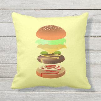 ハンバーガーのデザインの装飾用クッション クッション