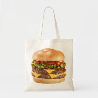 ハンバーガーのバッグのハンバーガーの食料雑貨ショッピングのトートバック トートバッグ