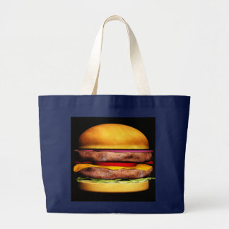 ハンバーガーのバッグ ラージトートバッグ