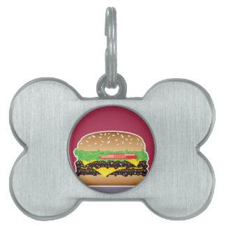 ハンバーガーのベクトル芸術 ペットネームタグ