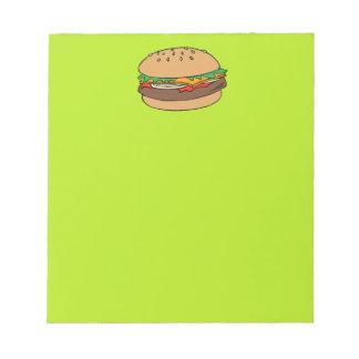 ハンバーガーのメモ帳 ノートパッド