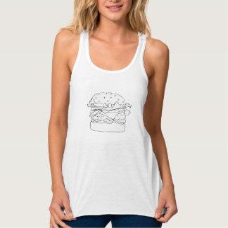 ハンバーガーのワイシャツ タンクトップ