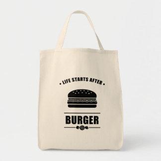 ハンバーガーの後の生命開始 トートバッグ