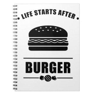 ハンバーガーの後の生命開始 ノートブック