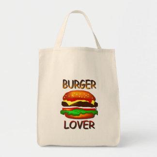 ハンバーガーの恋人のハンバーガーの食料雑貨のトートバック トートバッグ