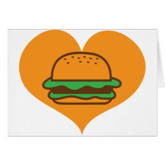 ハンバーガーの恋人 グリーティングカード