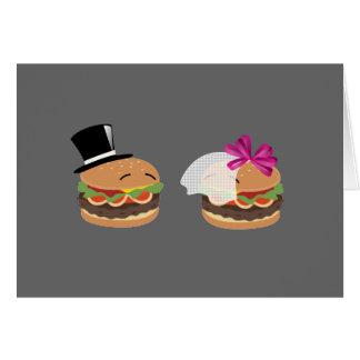 ハンバーガーの結婚 -- 単語のASLの演劇 グリーティングカード