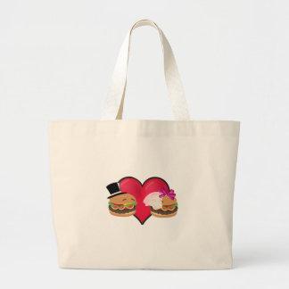 ハンバーガーの結婚 -- 単語のASLの演劇 ラージトートバッグ