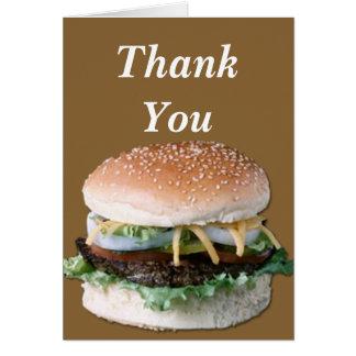 ハンバーガーは挨拶状感謝していしています カード
