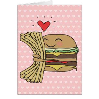 ハンバーガーは揚げ物を愛します カード