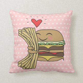 ハンバーガーは揚げ物を愛します クッション