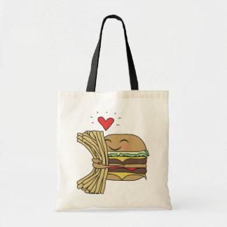 ハンバーガーは揚げ物を愛します トートバッグ