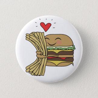 ハンバーガーは揚げ物を愛します 缶バッジ