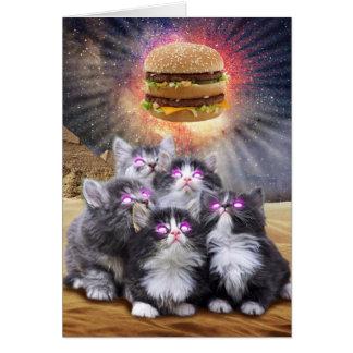 ハンバーガーを捜している宇宙猫 カード