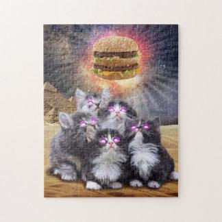 ハンバーガーを捜している宇宙猫 ジグソーパズル