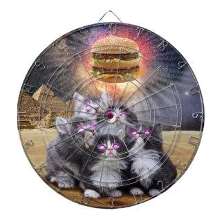 ハンバーガーを捜している宇宙猫 ダーツボード
