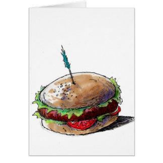 ハンバーガーカード グリーティングカード