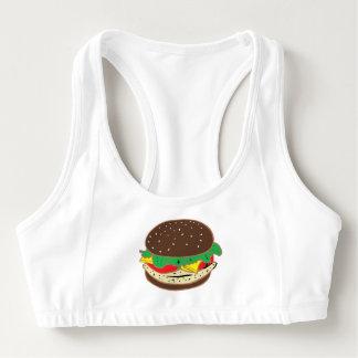 ハンバーガーサンドイッチ昼食の食糧食事 スポーツブラ