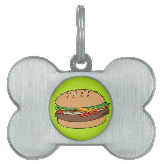 ハンバーガーペットラベル ペットネームタグ