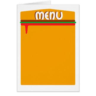 ハンバーガーメニューページ カード