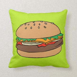 ハンバーガー及び揚げ物の枕 クッション