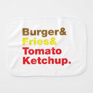 ハンバーガー及び揚げ物及びトマト・ケチャップ バープクロス