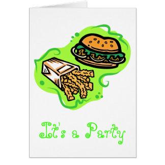 ハンバーガー及び揚げ物 カード