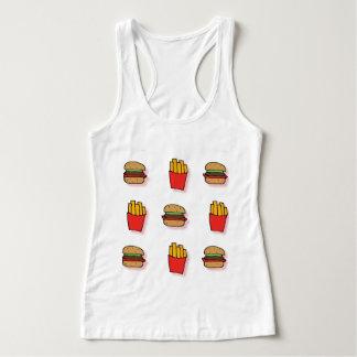 ハンバーガー及び揚げ物 タンクトップ