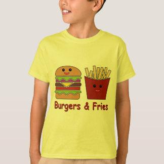 ハンバーガー及び揚げ物 Tシャツ