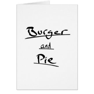 ハンバーガー グリーティングカード