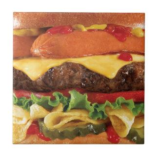 ハンバーガー タイル